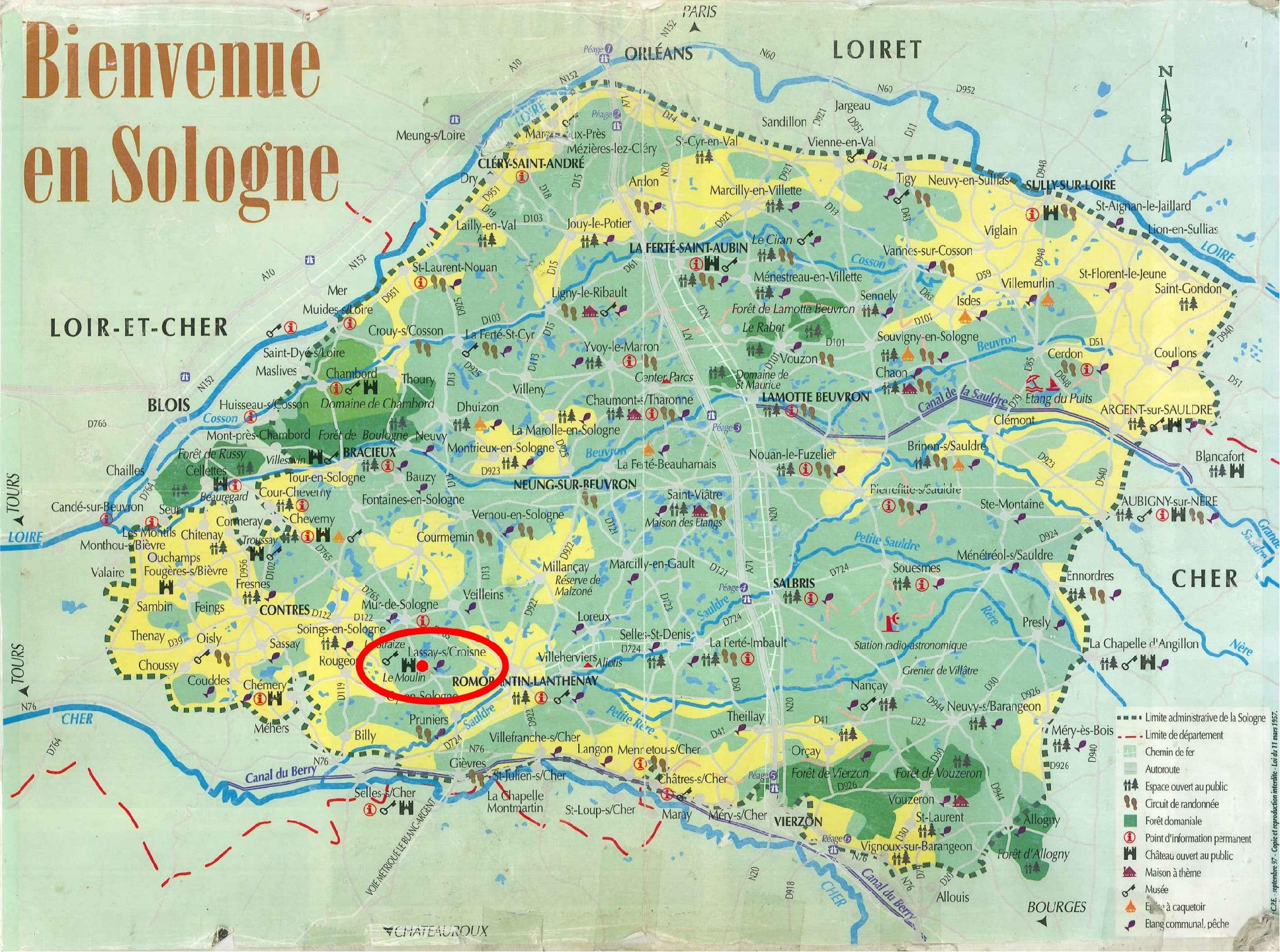 carte de la sologne La Sologne, ce n'est jamais trop pour ma trogne !